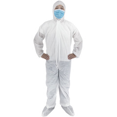 Man modelling Polypropylene Bio Suit supplied by Haunui International