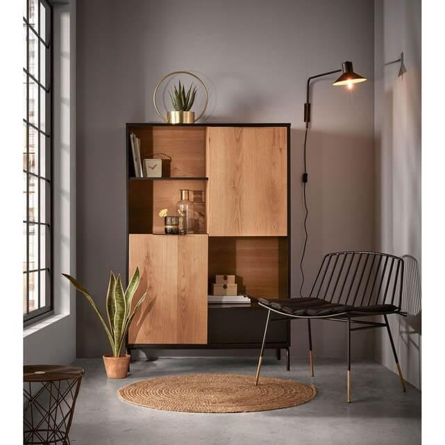 The Haunui supplied Koln wooden highboard in a modern living room