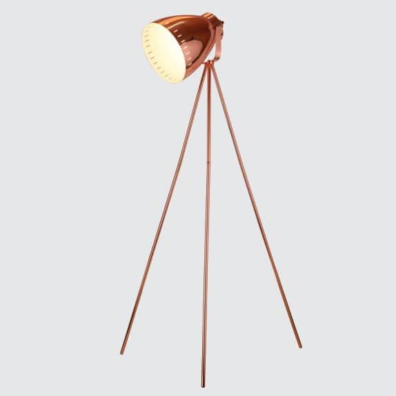 Metal tripod floor lamp from Haunui International