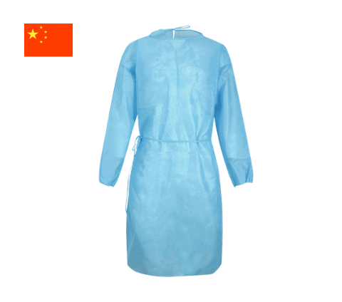 Blue protective gown