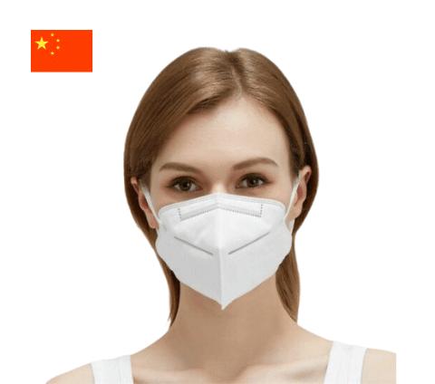 Woman wearing a KN95 mask