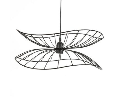 Fancy black wire-framed pendent lamp