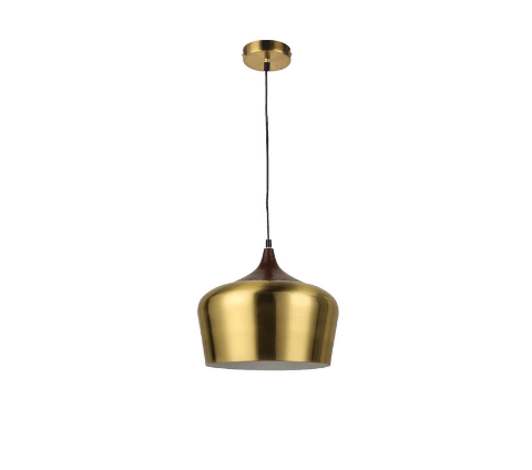 Elegant gold metal pendent lamp