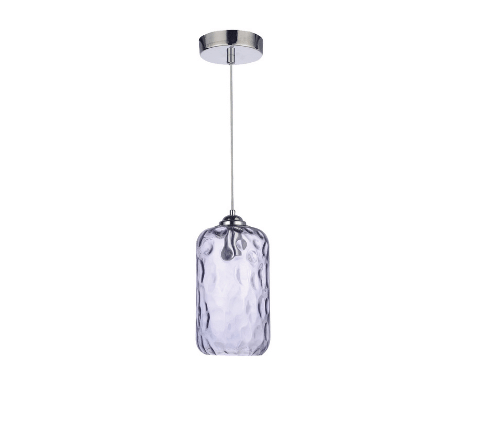 Pendent lamp with glass shade